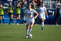 Cary, North Carolina - Sunday December 6, 2015: Lizzy Raben (6) of the Duke Blue Devils during second half action against the Penn State Nittany Lions at the 2015 NCAA Women's College Cup at WakeMed Soccer Park.  The Nittany Lions defeated the Blue Devils 1-0.