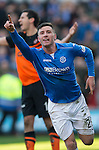 Dundee United v St Johnstone.....21.02.15<br /> Michael O'Halloran celebrates his second goal<br /> Picture by Graeme Hart.<br /> Copyright Perthshire Picture Agency<br /> Tel: 01738 623350  Mobile: 07990 594431
