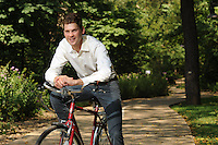 NWA Democrat-Gazette/ANDY SHUPE<br /> Tom Walton, son of Jim Walton and grandson of Sam Walton, has been very active in developing the mountain bike trails in the area and is the co-chair of the national Just Communities conference.