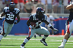 Ole Miss running back Martez Eastland (44) returns the opening kick-off at Vaught-Hemingway Stadium in Oxford, Miss. on Saturday, September 4, 2010.