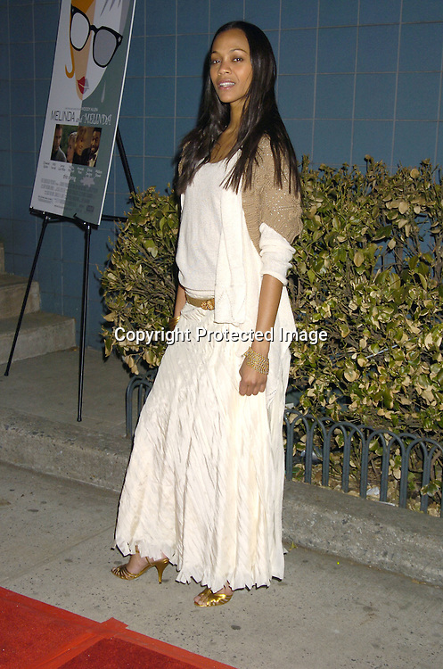 """Zoe Saldana ..at Director Woody Allen's  """"Melinda and Melinda"""" New York special screening on March 16, 2005 at the Chelsea West Cinemas. ..Photo by Robin Platzer, Twin Images"""