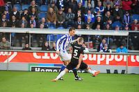 VOETBAL: HEERENVEEN: Abe Lenstra Stadion, SC Heerenveen - Vitesse, 21-01-2012, Bas Dost (#5), Alexander Büttner (#5), Eindstand 1-1, ©foto Martin de Jong