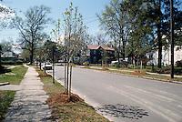 1996 April..Conservation.Lamberts Point.Public Improvements.New trees on Bowdens Ferry Raod looking East...NEG#.NRHA#..CONSERV: Lambert2 8:1