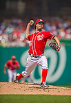 27 July 2013: Washington Nationals pitcher Dan Haren on the mound against the New York Mets at Nationals Park in Washington, DC. The Nationals defeated the Mets 4-1. Mandatory Credit: Ed Wolfstein Photo *** RAW (NEF) Image File Available ***