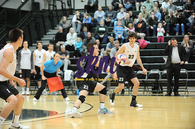 Stevenson men's volleyball captured the CVC Championship on Saturday afternoon at Owings Mills gymnasium sweeping the Scarlet Raiders from Rutgers-Newark in straight sets of (23-25), (21-25) and (21-25).