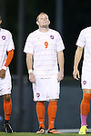08 October 2013: Clemson's Iain Smith. The University of North Carolina Tar Heels hosted the Clemson University Tigers at Fetzer Field in Chapel Hill, NC in a 2013 NCAA Division I Men's Soccer match. Clemson won the game 2-1 in overtime.