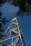 Closeup of Mt. Adams firetower, looking up