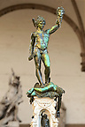 Benvenuto Cellini's Perseus with the Head of Medusa. The Loggia dei Lanzi, also called the Loggia della Signoria, Piazza della Signoria in Florence, Italy,