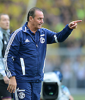 Fussball 1. Bundesliga :  Saison   2012/2013   8. Spieltag  20.10.2012 Borussia Dortmund - FC Schalke 04 Trainer Huub Stevens (FC Schalke 04)