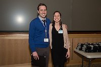 Student Clinician Ceremony. Sam Ackerman, M.D., left, Vanessa Patten, class of 2014.