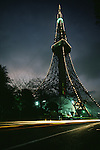 Traffic blurs past the Toyko Tower  in Tokyo, Japan. Built in 1958, The Tokyo Tower is the highest structure of its kind in the world, besting the Eiffel Tower in Paris by 33 meters.  (Jim Bryant Photo).....