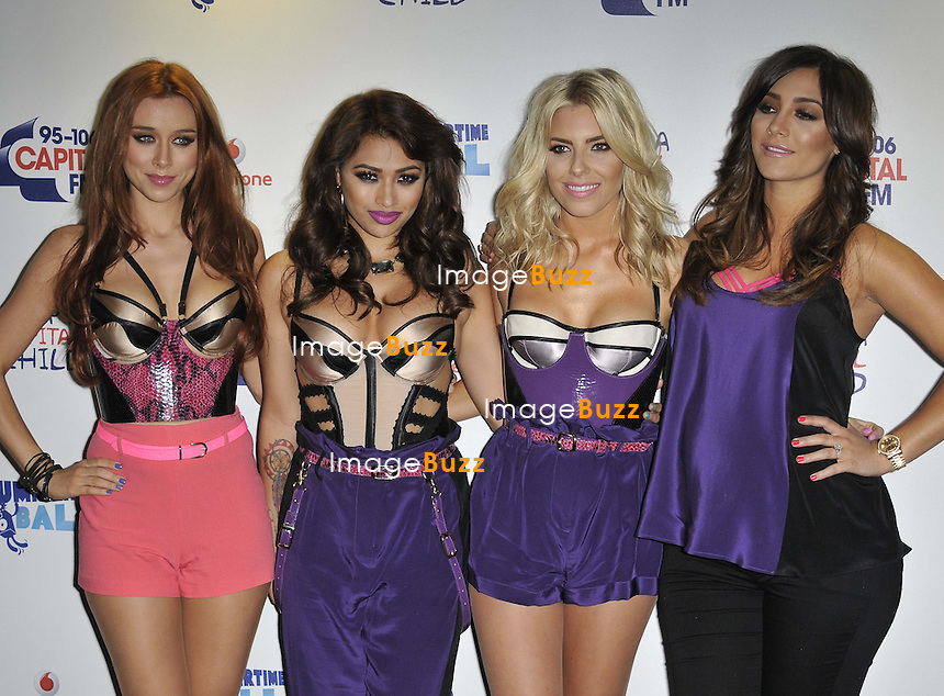 The Saturdays at the 2013. Capital FM's Summertime Ball held at Wembley Stadium, London, on June 9, 2013.