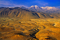 Aerial view of the area surrounding Arequipa, Peru
