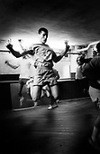 From boxe serie..An unknown boxer during is training in the gym.