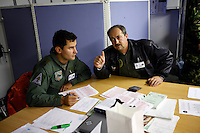 MiG-21 F pilots of the 95th Air Force Base from the Romanian Air Force. BOLD AVENGER 2007 (BAR 07), a NATO  air exercise at Ørland Main Air Station, Norway. BAR 07 involved air forces from 13 NATO member nations: Belgium, Canada, the Czech Republic, France, Germany, Greece, Norway, Poland, Romania, Spain, Turkey, the United Kingdom and the United States of America..The exercise was designed to provide training for units in tactical air operations, involving over 100 aircraft, including combat, tanker and airborne early warning aircraft and about 1,450 personnel.