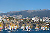Portugal, Funchal, Madeira :  European Windsurfing Championships in the bay of Funchal on the Portuguese archipelago of Madeira.Photo Gregorio Cunha .Campeonato da Europa de windsuf, classe RSX, na baia da cidade do Funchal,  Iha da Madeira, Portugal..Foto Gregorio Cunha