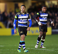 Dan Bowden of Bath Rugby looks on. Aviva Premiership match, between Bath Rugby and Gloucester Rugby on February 5, 2016 at the Recreation Ground in Bath, England. Photo by: Patrick Khachfe / Onside Images