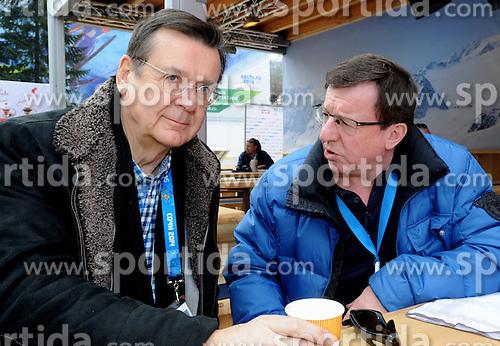 14.02.2014, Austria Tirol House, Krasnaya Polyana, RUS, Sochi, 2014, im Bild HANS MAHR, JAKOB FALKNER // HANS MAHR, JAKOB FALKNER during the Olympic Winter Games Sochi 2014 at the Austria Tirol House in Krasnaya Polyana, Russia on 2014/02/14. EXPA Pictures © 2014, PhotoCredit: EXPA/ Erich Spiess