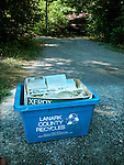 Blue box recyclingn