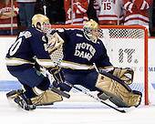 Kyle Palmieri (Notre Dame - 10), Brad Phillips (Notre Dame - 30) - The University of Notre Dame Fighting Irish defeated the Boston University Terriers 3-0 on Tuesday, October 20, 2009, at Agganis Arena in Boston, Massachusetts.