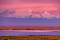 Romanzoff mountains of the Brooks range in the Arctic National Wildlife Refuge, view from Barter Island south to the refuge.