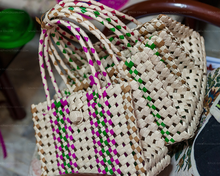 A bundle of buri bags sits in the weaver's home until the order is finished and can be passed off to the shippnig organizer, Dulce Gagan.
