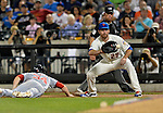24 July 2012: New York Mets first baseman Ike Davis in action against the Washington Nationals at Citi Field in Flushing, NY. The Nationals defeated the Mets 5-2 to take the second game of their 3-game series. Mandatory Credit: Ed Wolfstein Photo