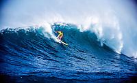 Brad Gerlach (USA) surfing at Sunset Beach on the North Shore of Oahu Hawaii  circa 1989 Photo: joliphotos.com