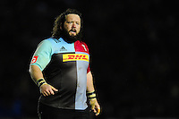 Adam Jones of Harlequins looks on during a break in play. European Rugby Challenge Cup semi final, between Harlequins and Grenoble on April 22, 2016 at the Twickenham Stoop in London, England. Photo by: Patrick Khachfe / JMP