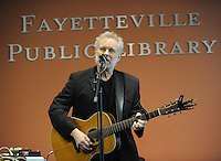 NWA Democrat-Gazette/ANDY SHUPE<br /> Musician John Gorka performs Friday, Feb. 10, 2017, during a Pickin' Post Concert at the Fayetteville Public Library. Mike Shirkey, host of the folk and bluegrass music show broadcast on KUAF since 1980, hosted the free mid-afternoon concert for a large crowd.