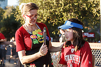 Stanford, Ca - October 8, 2016: Fan Fest before the Stanford vs. Washington State game Saturday night at Stanford Stadium. <br /> <br /> Washington State won 42-16.