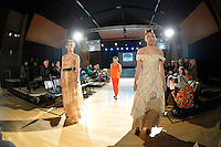 Green Embassy by Zuhai Kuvan-Mills, New Zealand Eco Fashion Exposed Buyers &amp; Media Showcase at Notre Dame Performing Arts Centre, Lower Hutt, New Zealand on Thursday 24 July 2014. <br /> Photo by Masanori Udagawa. <br /> www.photowellington.photoshelter.com.