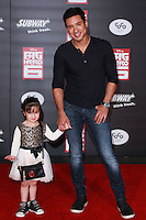 HOLLYWOOD, LOS ANGELES, CA, USA - NOVEMBER 04: Gia Francesca Lopez, Mario Lopez arrive at the Los Angeles Premiere Of Disney's 'Big Hero 6' held at the El Capitan Theatre on November 4, 2014 in Hollywood, Los Angeles, California, United States. (Photo by David Acosta/Celebrity Monitor)