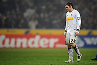 FUSSBALL   1. BUNDESLIGA   SAISON 2011/2012   23. SPIELTAG Borussia Moenchengladbach - Hamburger SV         24.02.2012 Tony Jantschke (Borussia Moenchengladbach) nach dem Abpfiff enttaeuscht