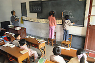 October 1984. A public school in Shanghai. Learning how to write.