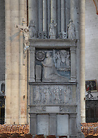 Tomb of Charles Hemard de Denonville, 1493-1540, cardinal and bishop of Amiens, sculpted 1543 by Mathieu Laignel, on the Northwest pillar of the transept crossing, in the Basilique Cathedrale Notre-Dame d'Amiens or Cathedral Basilica of Our Lady of Amiens, built 1220-70 in Gothic style, Amiens, Picardy, France. Amiens Cathedral was listed as a UNESCO World Heritage Site in 1981. Picture by Manuel Cohen