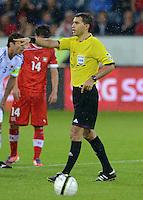 Fussball International  WM Qualifikation 2014   11.09.2012 Schweiz - Albanien Schiedsrichter Ovidiu Hategan (Rumaenien)