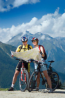 Pfunds, Tiroler Oberland, Austria, August 2009.  Mountainbiking to the Gschneirer Alm to enjoy a Jausen meal of cheese, bacon and fresh bread. Photo by Frits Meyst/Adventure4ever.com
