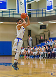 22 November 2015: Yeshiva University Maccabee Forward Joseph Ammar, a Senior from Miami, FL, takes a 3-point shot during the first half of play against the Hunter College Hawks at the Max Stern Athletic Center  in New York, NY. The Maccabees defeated the Hawks 81-71 in non-conference play, for their second win of the season. Mandatory Credit: Ed Wolfstein Photo *** RAW (NEF) Image File Available ***