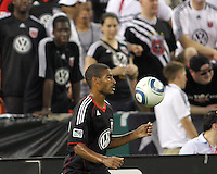 Nigel White #32 of D.C. United during an international friendly match against Portsmouth FC at RFK Stadium on July 24 2010, in Washington D.C. United won 4-0.