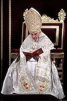 Te Deum prayer in St Peter's Basilica at the Vatican Benedict XV December. 31, 2011