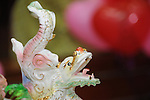 Taiwanese Wedding -- Dragon figure on the bridal food plate.<br />