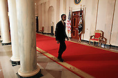United States President Barack Obama walks away after making a statement about the decision of President Hosni Mubarak of Egypt not to seek another term as Egyptian President, at the White House on Thursday, February 1, 2011 in Washington, DC. Earlier today the embattled Mubarak announced that he would not seek reelection after one million people rallied across Egypt calling for Mubarak to give up power. .Credit: Mark Wilson / Pool via CNP
