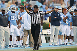 12 September 2015: Side Judge Richard Wilborn. The University of North Carolina Tar Heels hosted the North Carolina A&T State University Aggies at Kenan Memorial Stadium in Chapel Hill, North Carolina in a 2015 NCAA Division I College Football game.
