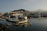 Los Cristianos harbour, showing fishing boats and pleasure craft, Los Cristianos,Tenerife, Canary Islands, Spain