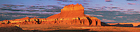 920950012 panoramic view of clouds and wild horse butte near the entrance to goblin valley state park in north central utah