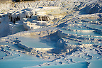 Pictures &amp; Image  of Pamukkale Travetine Terrace, Turkey. Images of the white Calcium carbonate rock formations. Buy as stock photos or as photo art prints. 3