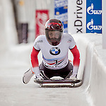 8 January 2016: Janine Flock, competing for Austria, completes her second run of the BMW IBSF World Cup Skeleton race with a combined 2-run time of 1:51.23, earning a 5th place finish for the day at the Olympic Sports Track in Lake Placid, New York, USA. Mandatory Credit: Ed Wolfstein Photo *** RAW (NEF) Image File Available ***