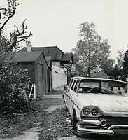 1968  May  15..Ghent      ..East Ghent North R-55.Garages on North side of 17th Street..Sam McKay.NEG# SLM68-39-45..