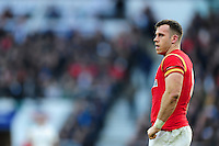 Gareth Davies of Wales looks on during a break in play. RBS Six Nations match between England and Wales on March 12, 2016 at Twickenham Stadium in London, England. Photo by: Patrick Khachfe / Onside Images